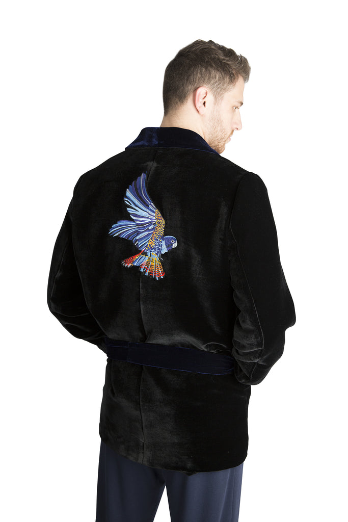 Men's Winged Victory Silk Velvet Jacket