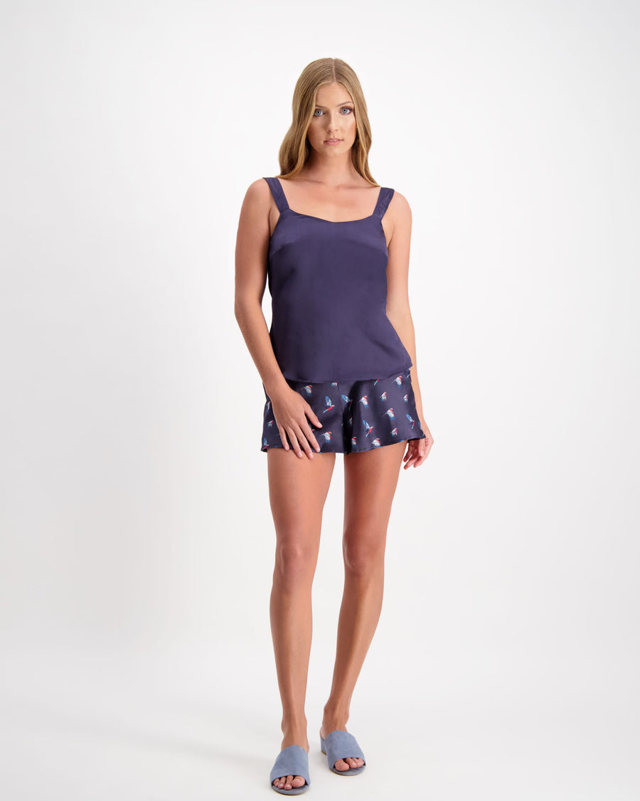 Dream - Silk Shorts - Midnight Blue