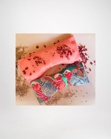 Therapeutic Silk Eye Pillow and Silk Pillowcase with Lavender