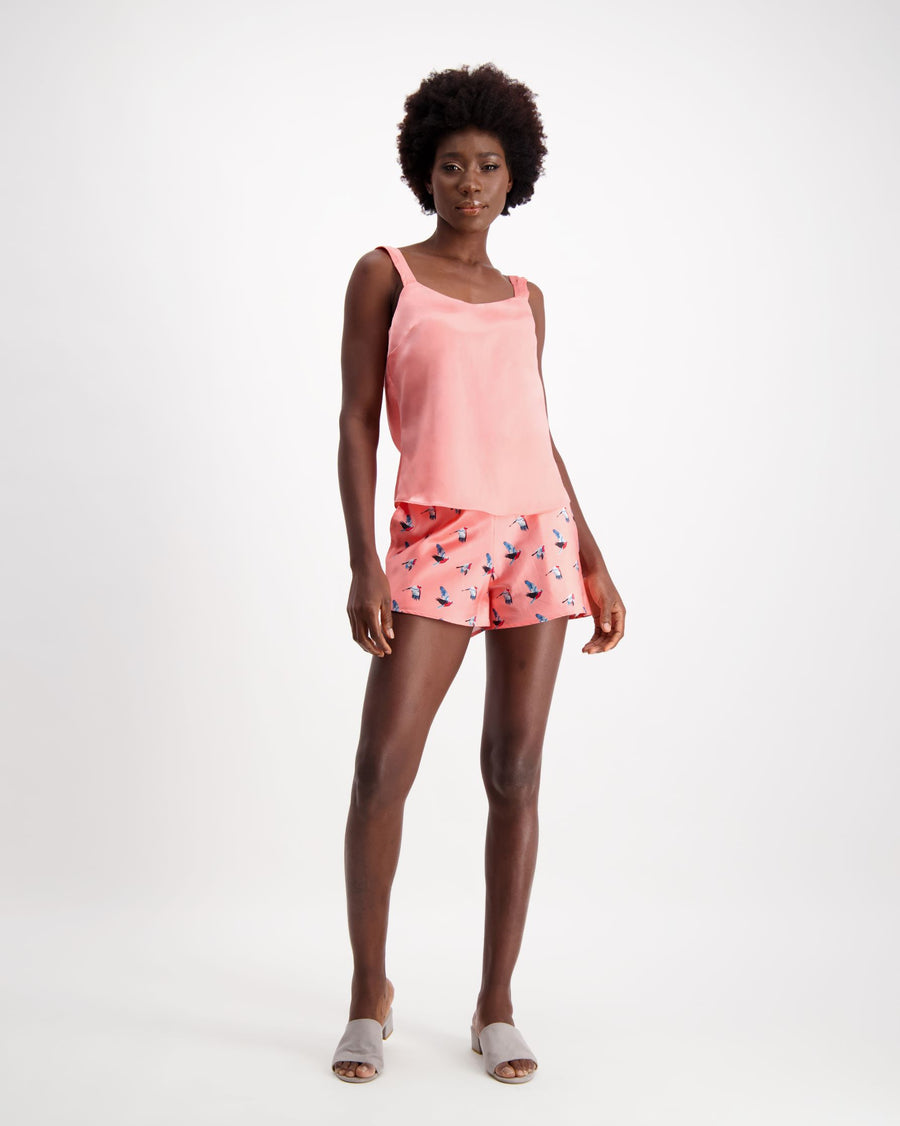 Dream - Silk Shorts - Sunset Peach