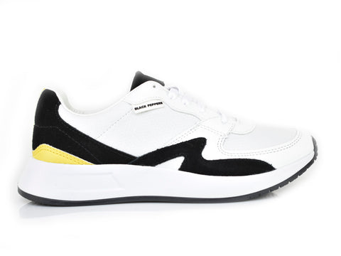 Traffic White/Black/Yellow Spr Trainer 571-196