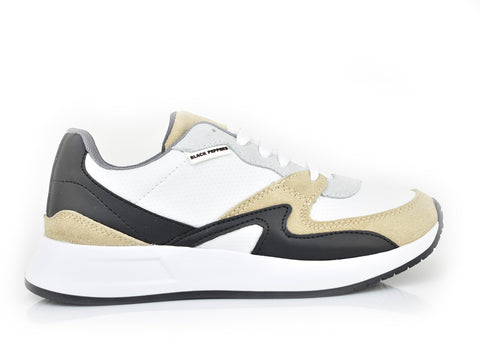 571-198 Traffic White/Black/Nude Spr Trainer (Dama)