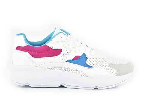 White/Rose/Blue Traffic Runners (dama) 371-28