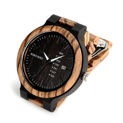 Antique Mens Zebra and Ebony Wood Watches