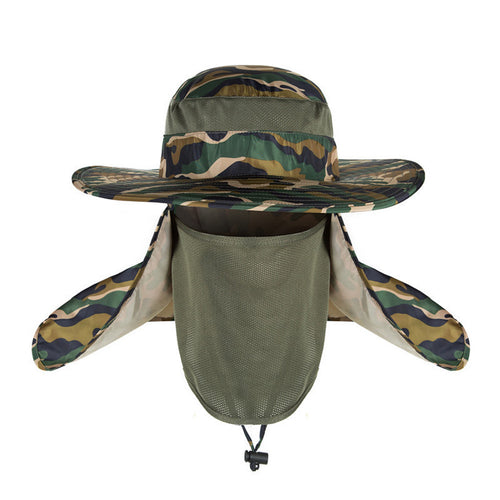 Bucket Hat with Face & Neck Shield