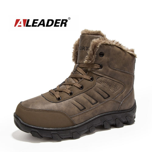 ALEADER Winter Boots Casual Outdoor Snow Boots Waterproof