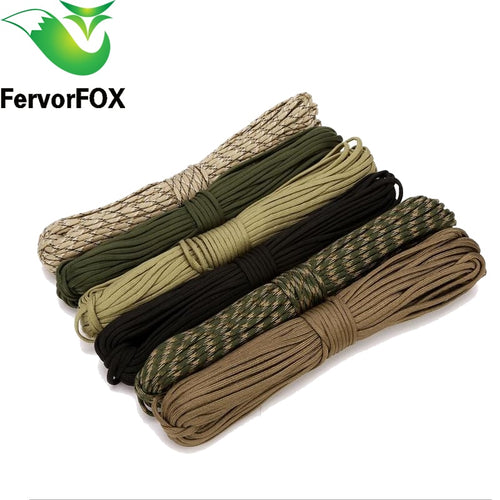 10M or 31M of 550 Mil Spec Type III 7 Strand Climbing Camping Survival Paracord in Multiple Colors
