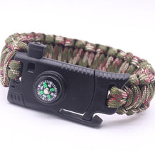 Load image into Gallery viewer, Military Outdoor Paracord Survival Bracelet