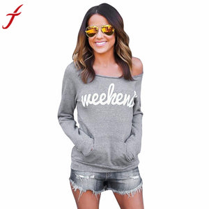 "Fashion Gray Women's ""Weekend"" Blouse"