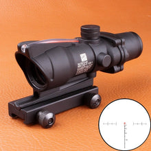 Load image into Gallery viewer, OhHunt ACOG 4X32 Real Fiber Optics Red Green Illuminated Chevron Glass Etched Reticle Tactical Optical Sight