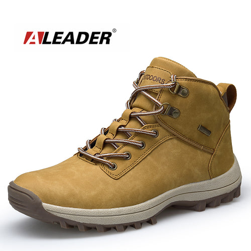 ALEADER Winter Men Shoes 2018 Waterproof Durable Non Slip