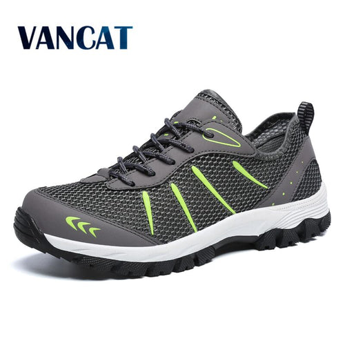 VANCAT 2018 New Spring Summer Breathable Mesh Outdoor Men's Shoes