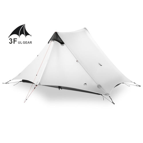 2018 LanShan 2 Person Oudoor Ultralight Camping Tent 3 Season Professional 15D Silnylon Rodless Tent