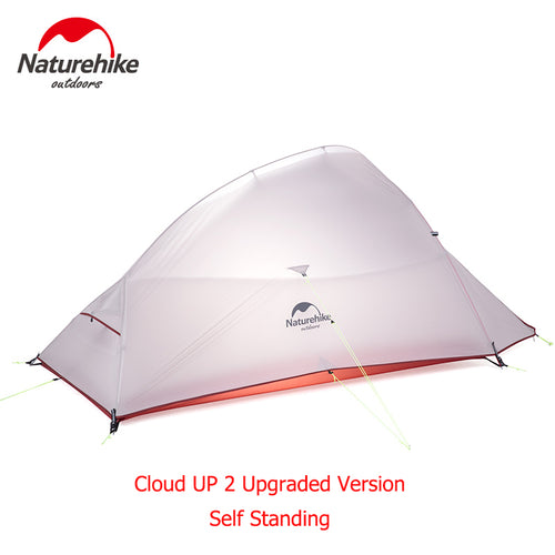 Naturehike 1.8Kg CloudUp Series Free Standing Ultralight Tent 20D Fabric With Mat