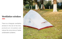 Load image into Gallery viewer, Naturehike 1.8Kg CloudUp Series Free Standing Ultralight Tent 20D Fabric With Mat