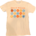 "Kelly Willis ""Back Being Blue"" Circle Logo"