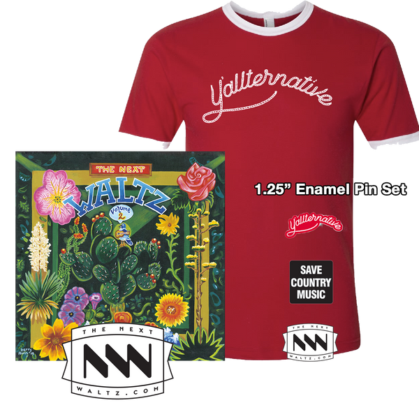 Volume 2 LP, Y'allternative Ringer Tee, Enamel Pin Set & Sticker