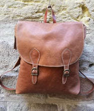 Load image into Gallery viewer, Tabaco Colour Soft Leather Backpack