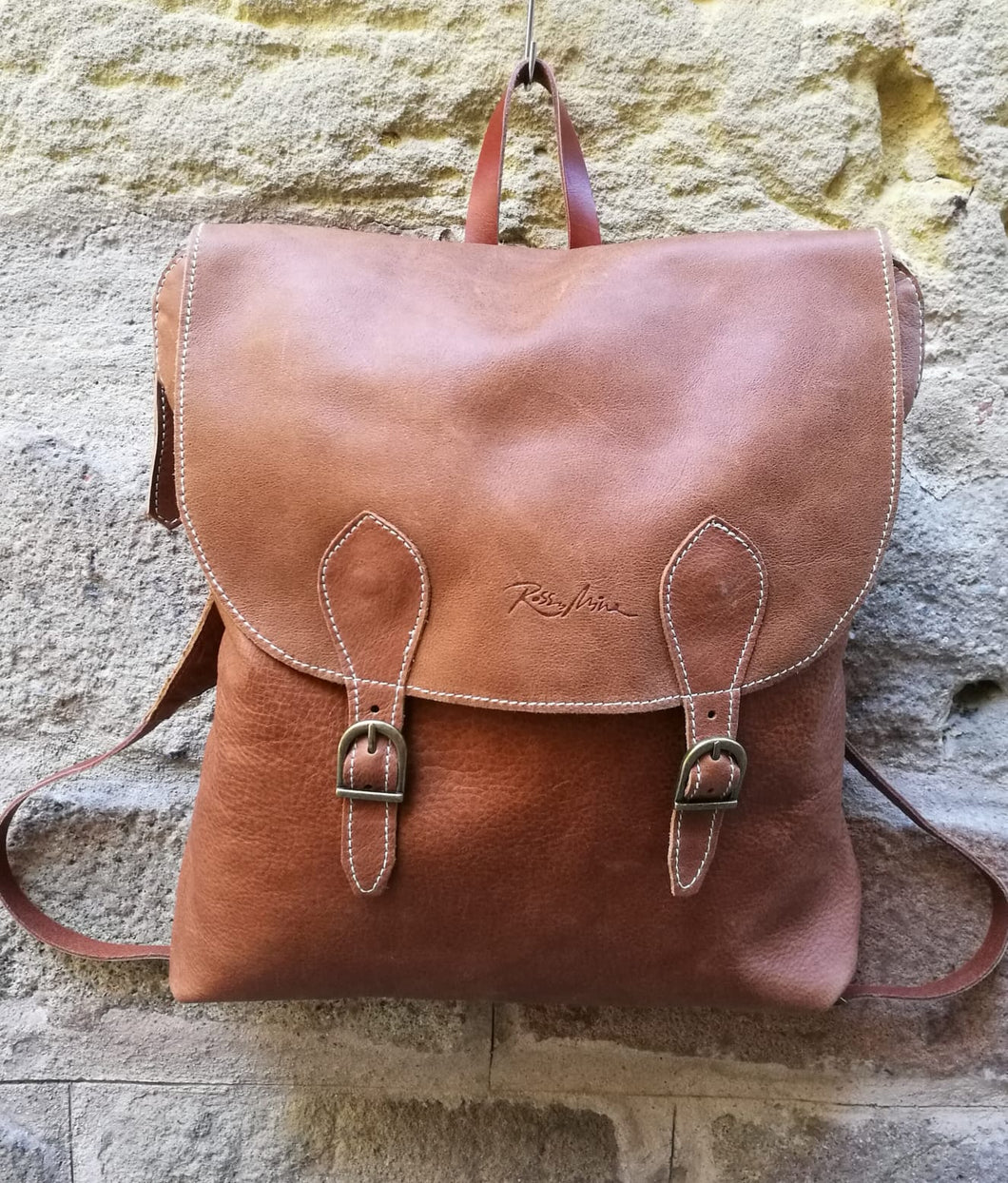 Tabaco Colour Soft Leather Backpack