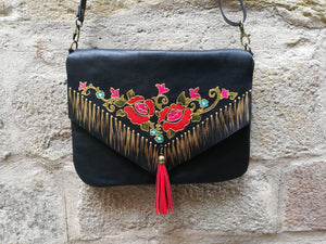 Black Leather Bag Bolso Negro Manton De Manila