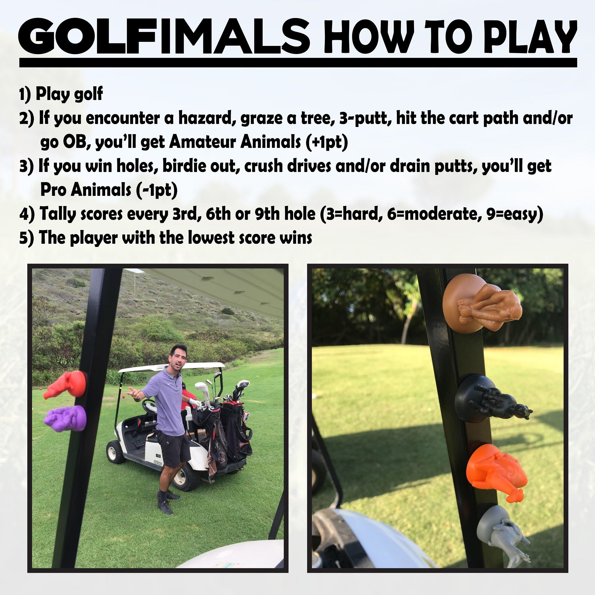 The GOLFimals Donkey
