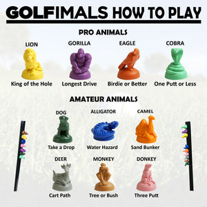 GOLFimals Animals Set