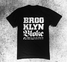 Load image into Gallery viewer, BRKLN BLOKE 'News Script' T-Shirt (Black)