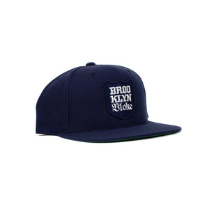 'Shield'  Snapback Hat (Navy)