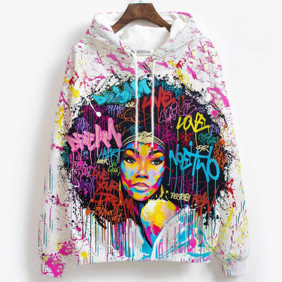 BigProStore African American Hoodies Beautiful Afro Woman Black Girl Magic All Over Print Womens Hooded Sweatshirt Afrocentric Clothing BPS01236 Women Dress