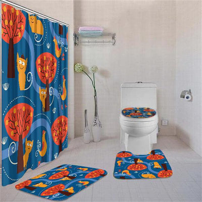 BigProStore Adorable African American Black Art South African Animals Bathroom Shower Curtain Set 4pcs Cool Afrocentric Bathroom Accessories BPS3044 Standard (180x180cm | 72x72in) Bathroom Sets