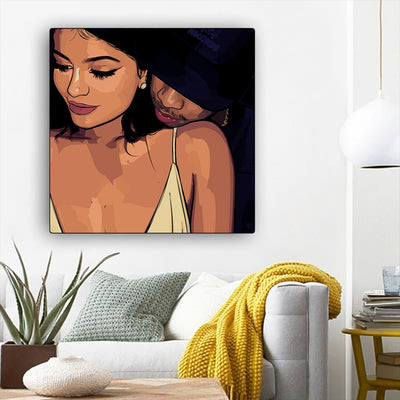 "BigProStore African American Canvas Art Beautiful Black American Woman Black History Artwork Afrocentric Decorating Ideas BPS99620 12"" x 12"" x 0.75"" Square Canvas"