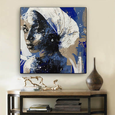 "BigProStore African American Wall Art Cute Black Afro Girls African American Framed Wall Art Afrocentric Home Decor Ideas BPS55280 24"" x 24"" x 0.75"" Square Canvas"