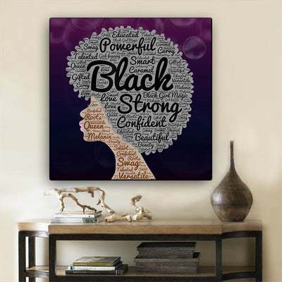 "BigProStore African Canvas Art Beautiful Afro American Woman African Canvas Wall Art Afrocentric Living Room Ideas BPS15948 24"" x 24"" x 0.75"" Square Canvas"