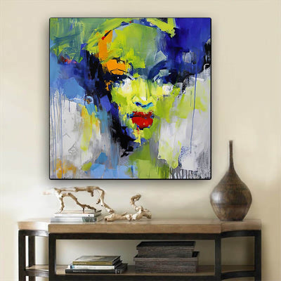 "BigProStore African Canvas Art Beautiful Afro American Woman Afro American Art Afrocentric Home Decor BPS74823 24"" x 24"" x 0.75"" Square Canvas"
