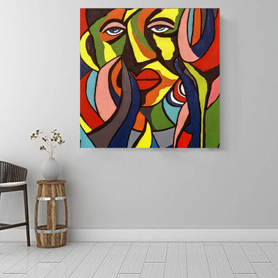 "BigProStore African Canvas Art Beautiful Black American Girl African American Framed Art Afrocentric Decor BPS50156 16"" x 16"" x 0.75"" Square Canvas"