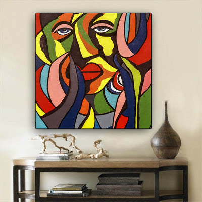 "BigProStore African Canvas Art Beautiful Black American Girl African American Framed Art Afrocentric Decor BPS50156 24"" x 24"" x 0.75"" Square Canvas"