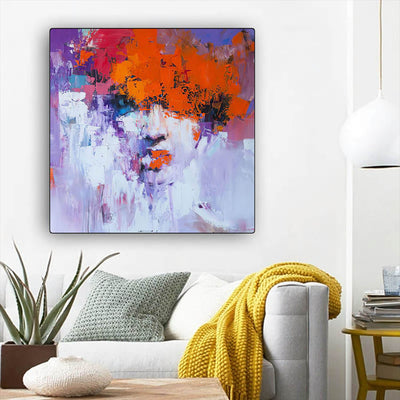"BigProStore African Canvas Art Cute Black Girl African American Framed Wall Art Afrocentric Living Room Ideas BPS94767 12"" x 12"" x 0.75"" Square Canvas"