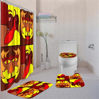 BigProStore Amazing African American Art Afrocentric Art Shower Curtain Bathroom Set 4pcs Nice African Bathroom Decor BPS3571 Standard (180x180cm | 72x72in) Bathroom Sets