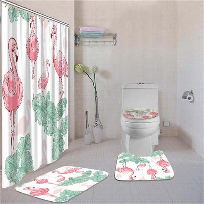 BigProStore Attractive Afro American Afrocentric Art Shower Curtain Bathroom Set 4pcs Cool Afrocentric Bathroom Decor BPS3599 Standard (180x180cm | 72x72in) Bathroom Sets