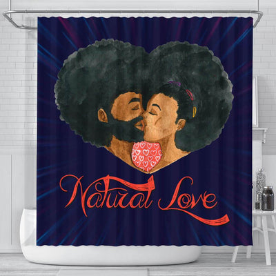 BigProStore Awesome Afro Man Woman Natural Love Black African American Shower Curtains African Style Designs BPS042 Small (165x180cm | 65x72in) Shower Curtain