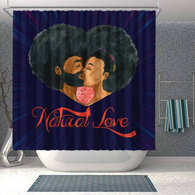BigProStore Awesome Afro Man Woman Natural Love Black African American Shower Curtains African Style Designs BPS042 Shower Curtain