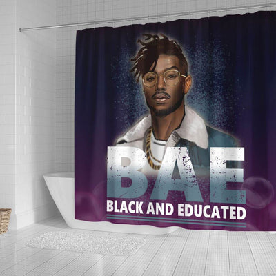 BigProStore Awesome BAE Black And Educated Man Black History Shower Curtains African Style Designs BPS053 Small (165x180cm | 65x72in) Shower Curtain