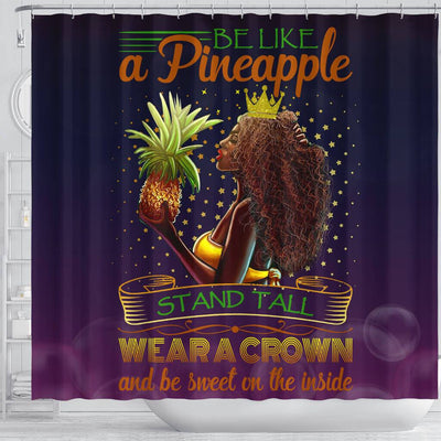 BigProStore Awesome Be Like A Pineapple Stand Tall Wear A Crown And Be Sweet In The Inside African American Bathroom Shower Curtains African Bathroom Accessories BPS054 Shower Curtain