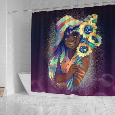 BigProStore Awesome Beautiful Afro Lady African American Print Shower Curtains Afrocentric Bathroom Decor BPS059 Small (165x180cm | 65x72in) Shower Curtain
