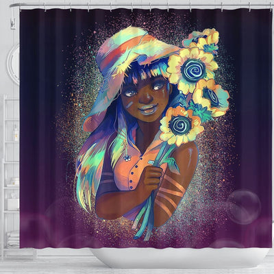 BigProStore Awesome Beautiful Afro Lady African American Print Shower Curtains Afrocentric Bathroom Decor BPS059 Shower Curtain
