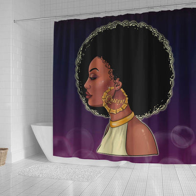 BigProStore Awesome Beautiful Black Queen Shower Curtains African American Afro Bathroom Decor BPS066 Small (165x180cm | 65x72in) Shower Curtain