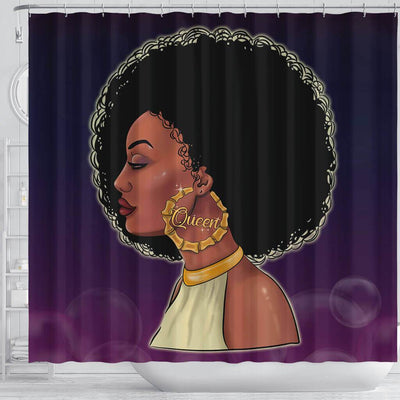 BigProStore Awesome Beautiful Black Queen Shower Curtains African American Afro Bathroom Decor BPS066 Shower Curtain