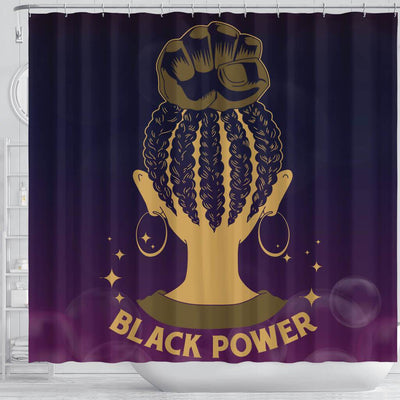 BigProStore Awesome Black Power Afro Girl African Style Shower Curtains African Bathroom Decor BPS089 Shower Curtain