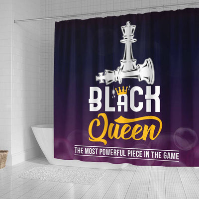 BigProStore Awesome Black Queen The Most Powerful Piece In The Game Chess African American Shower Curtain African Bathroom Accessories BPS094 Small (165x180cm | 65x72in) Shower Curtain