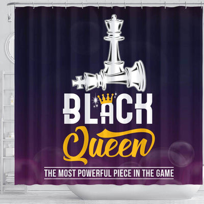 BigProStore Awesome Black Queen The Most Powerful Piece In The Game Chess African American Shower Curtain African Bathroom Accessories BPS094 Shower Curtain